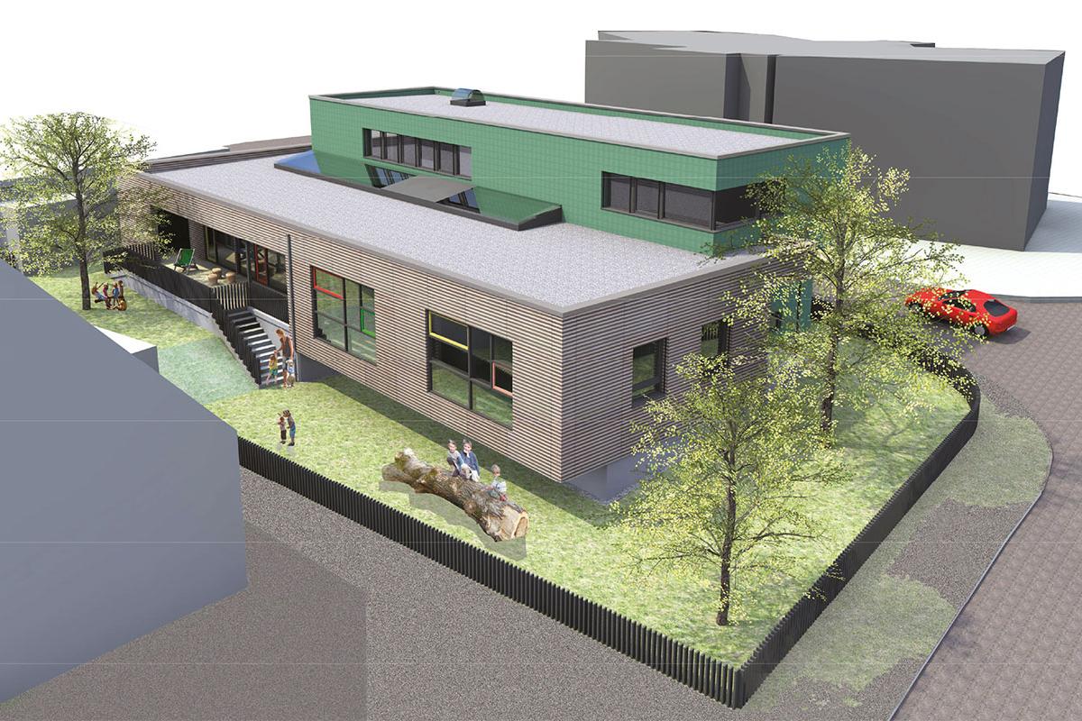 Kinderhaus Papperlapapp 3D Ansicht