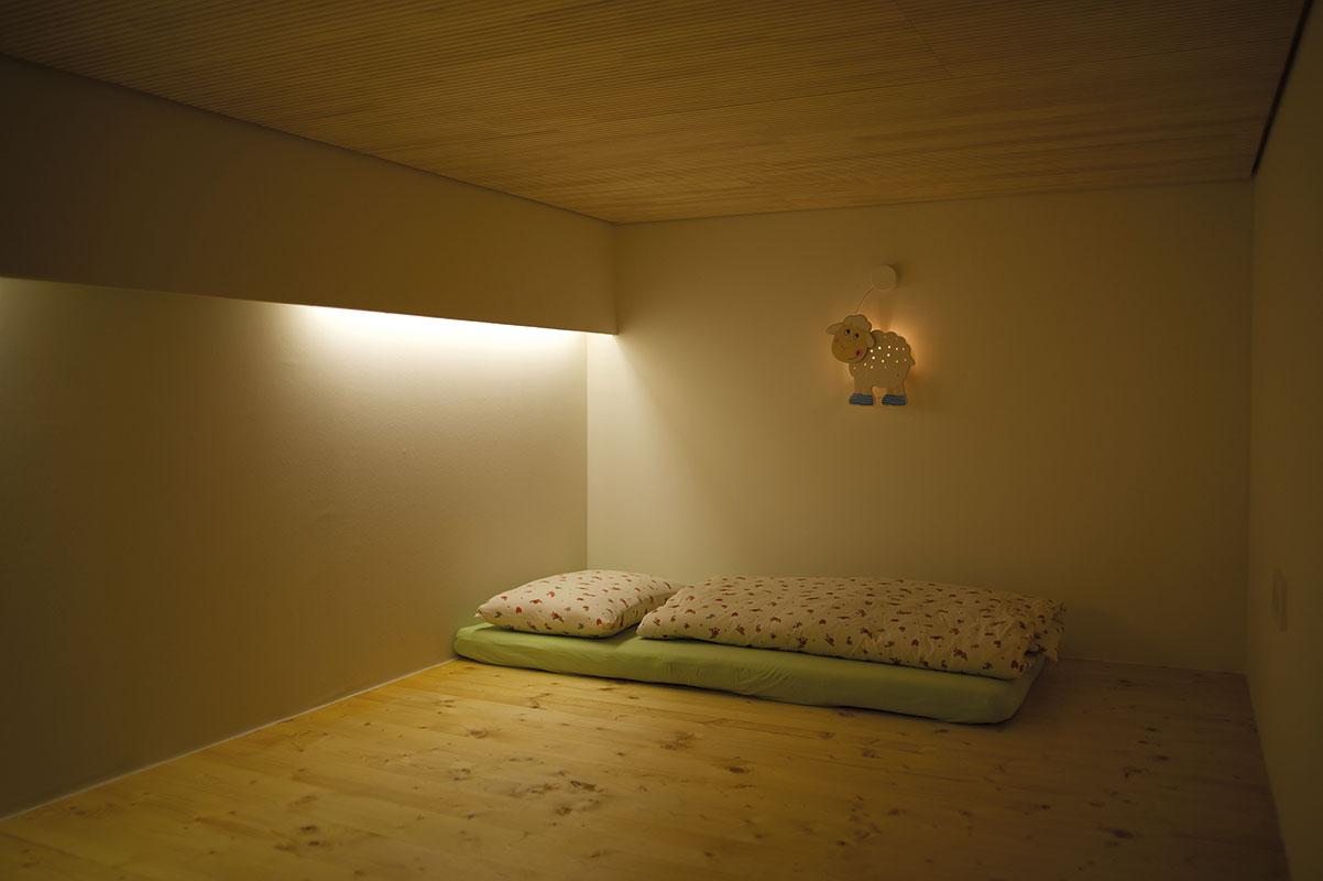 Kinderhaus Papperlapapp Schlafraum