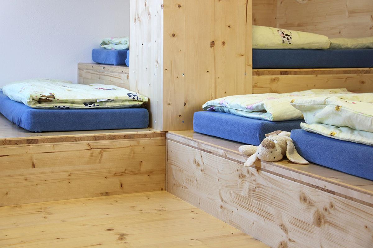 Kindergarten St. Maria Unterankenreute, Schlafbereich mit Matratzen