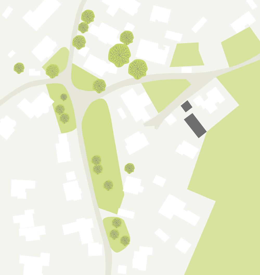 Doppelgarage mit Lagerraum Grünkraut, Lageplan