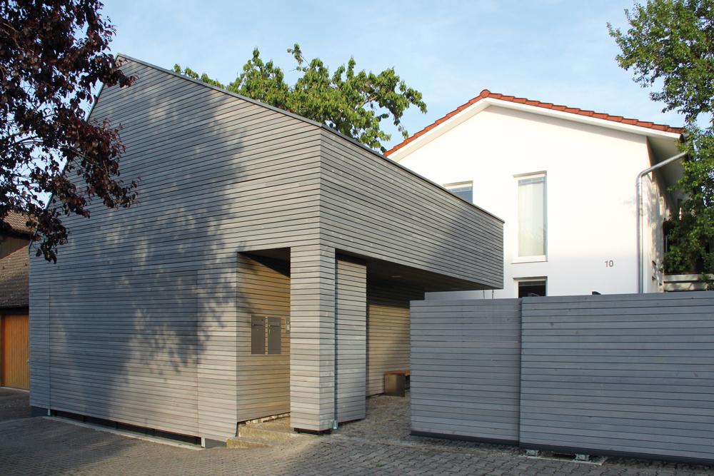 Doppelgarage mit Lagerraum, Grünkraut - Beispielhaftes Bauen 2016
